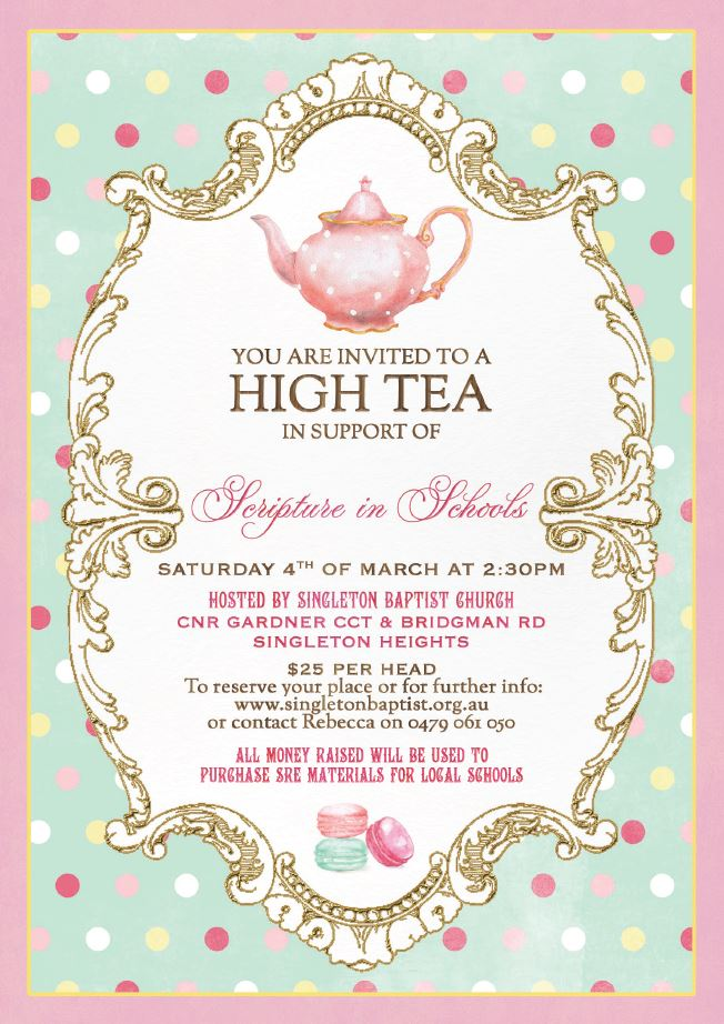 Singleton Scripture Fundraiser High Tea